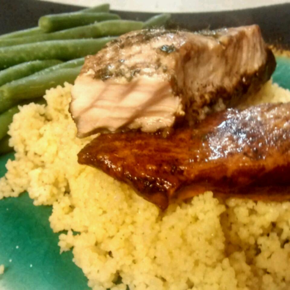 Simple Salmon with Balsamic Sauce jeremy