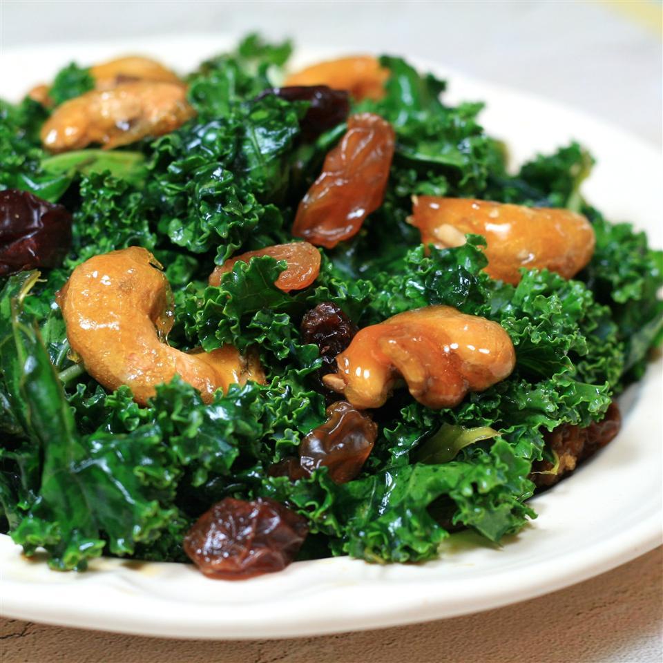 Kale Salad with Sugar-Coated Cashews