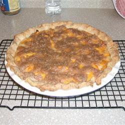 Old-Fashioned Peach Cream Pie Magoo