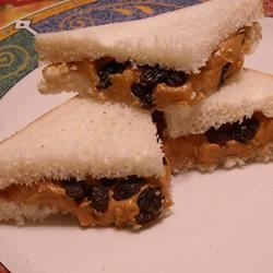 Cinnamon-Raisin Peanut Butter Sandwich