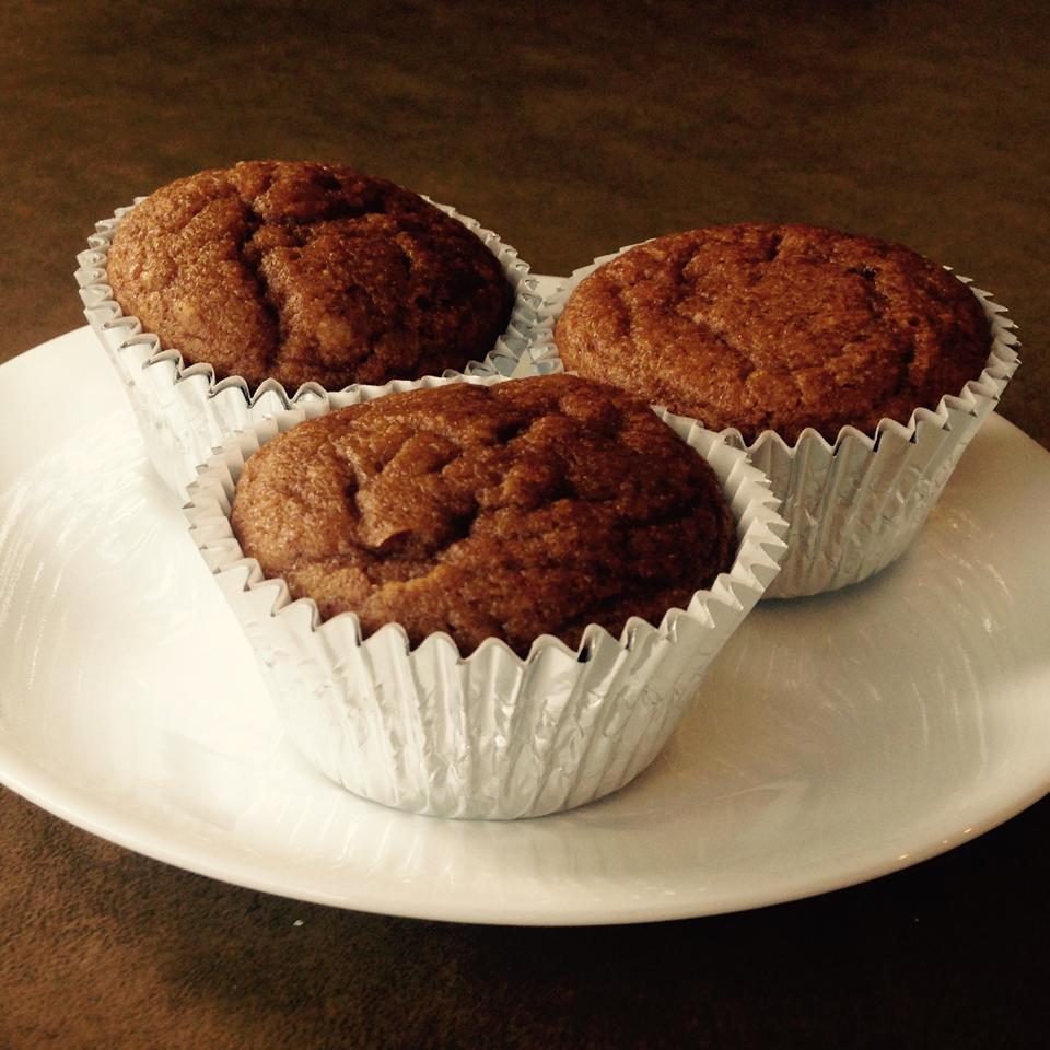 Pumpkin Pie-Oat Flour Muffins