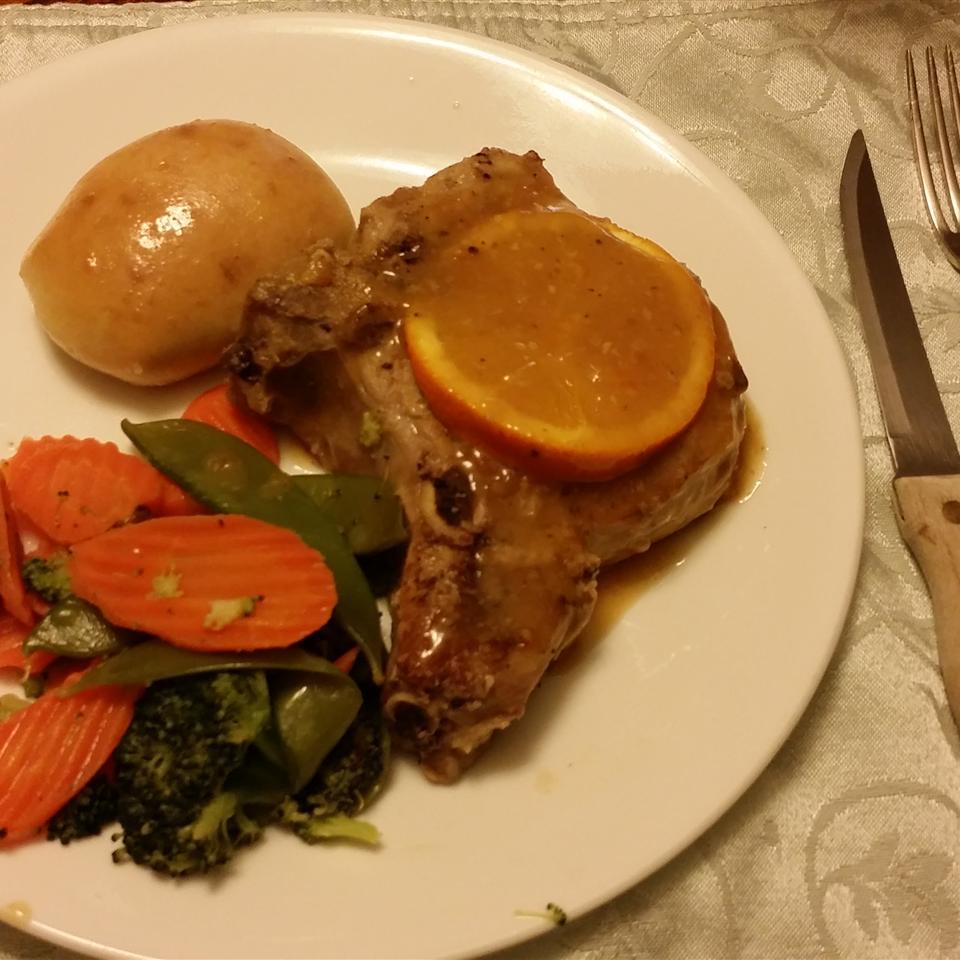 Orange Pork Chops with Tarragon Angela Jacobs