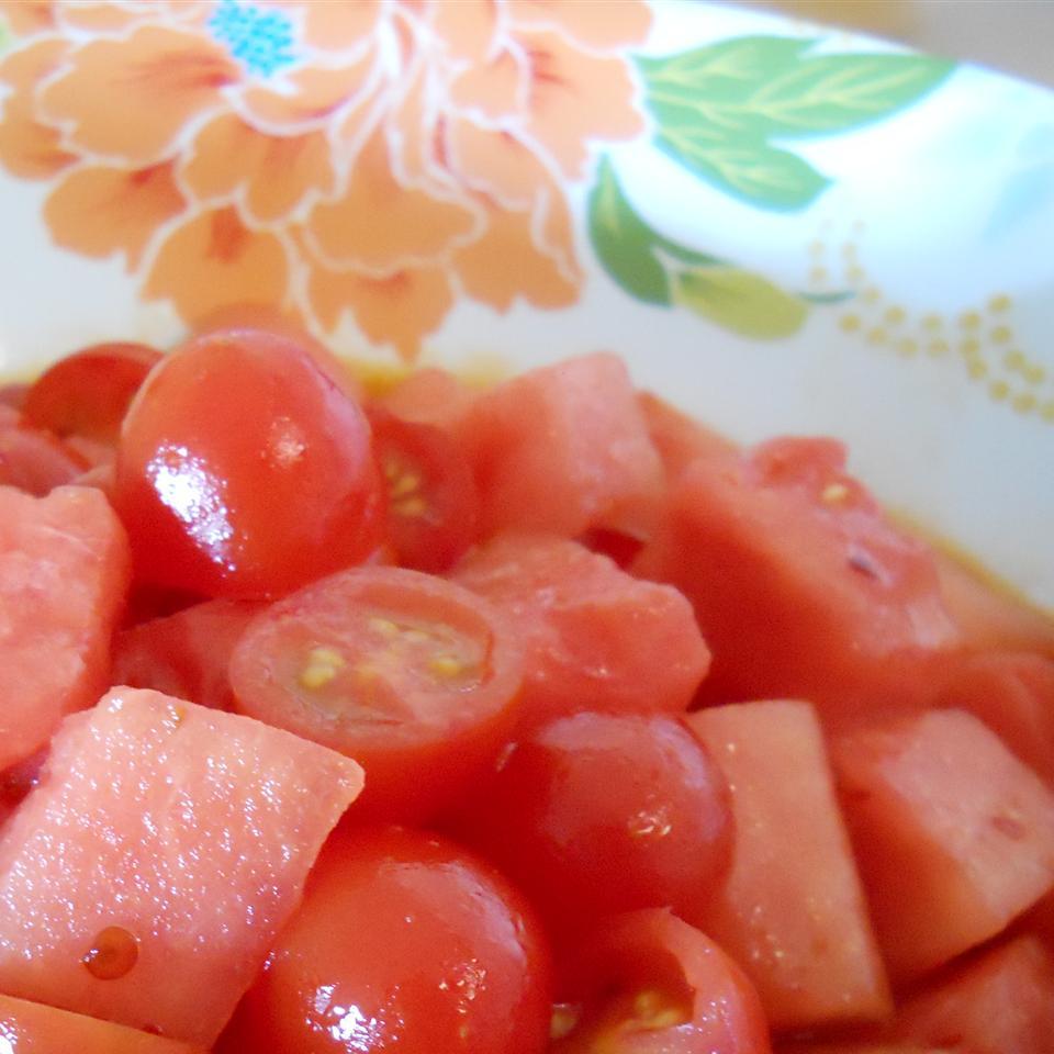 Spicy Watermelon Tomato Salad NancyLou