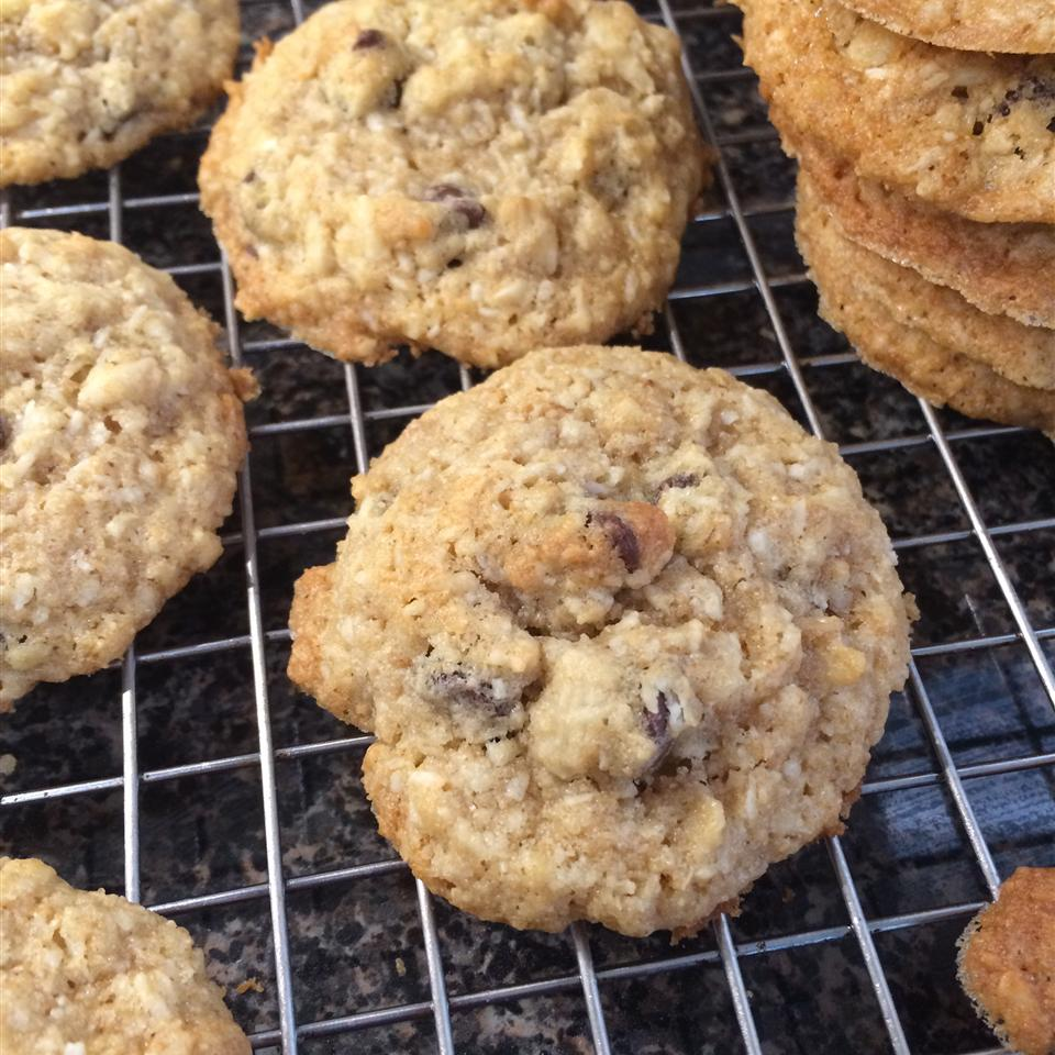 Soft Oatmeal Coconut Chocolate Chip Cookies