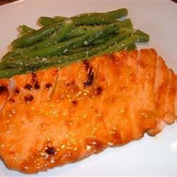 Grilled Salmon With Orange Glaze Fit&Healthy Mom