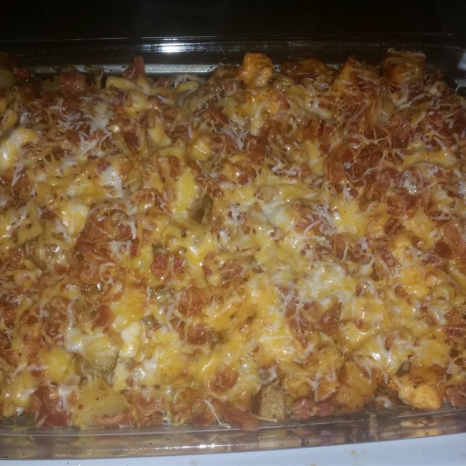 Buffalo Chicken and Roasted Potato Casserole EmilyAnn