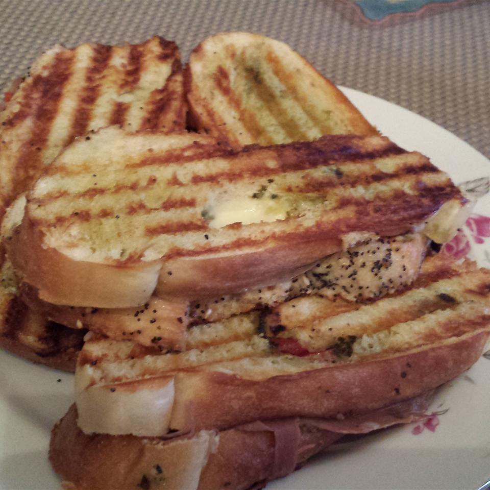 Prosciutto and Provolone Panini Sandwiches