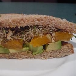 Avocado and Orange Sandwich Mojito Mama