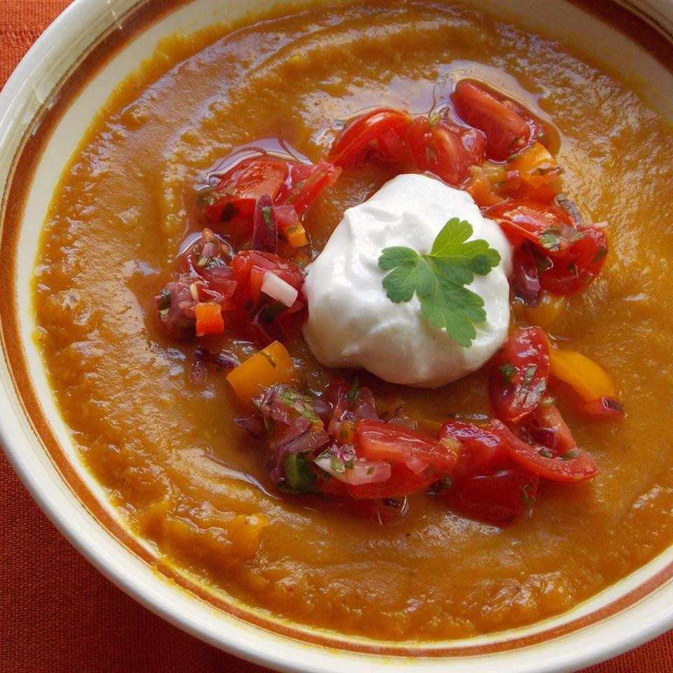 Sweet Potato and Salsa Soup