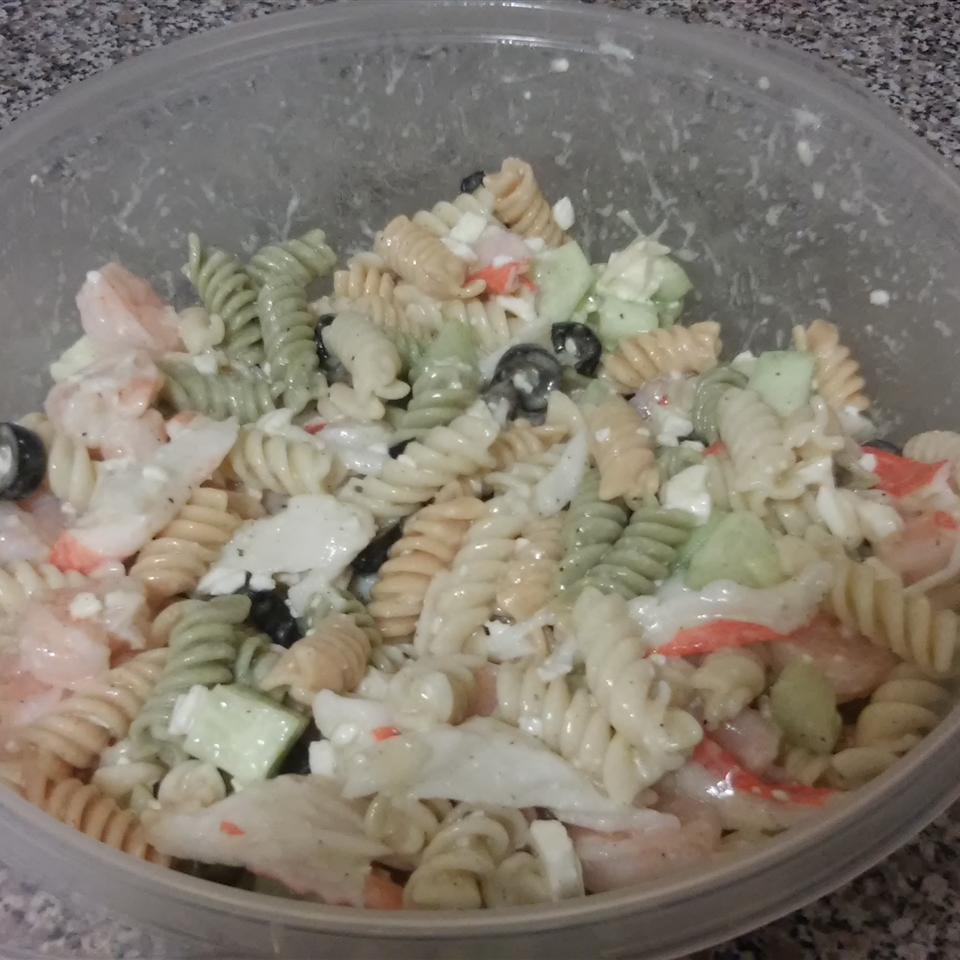 Crab and Shrimp Pasta Salad Alex L