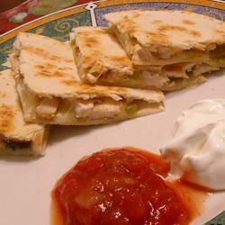 Grilled Chicken Quesadillas ~TxCin~ILove2Ck