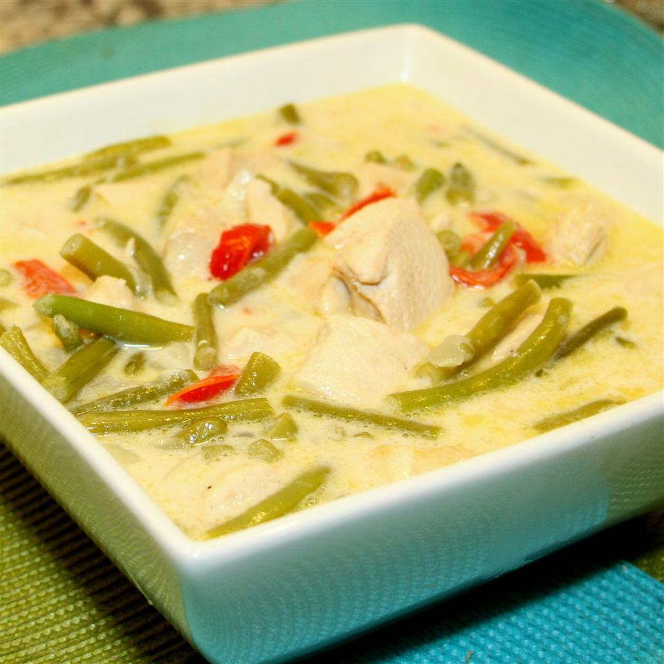 Coconut Chicken with Green Beans