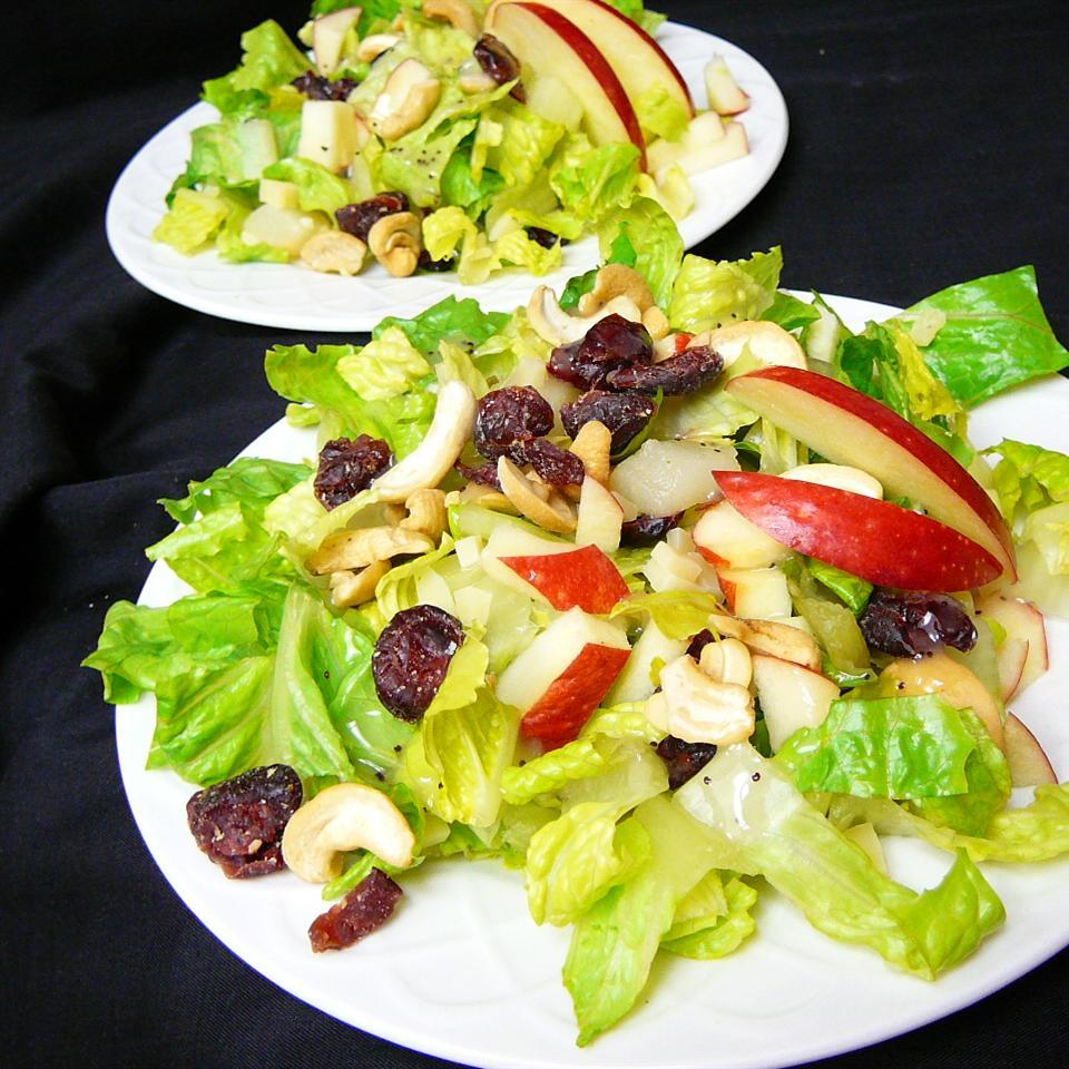 Winter Fruit Salad with Lemon Poppyseed Dressing