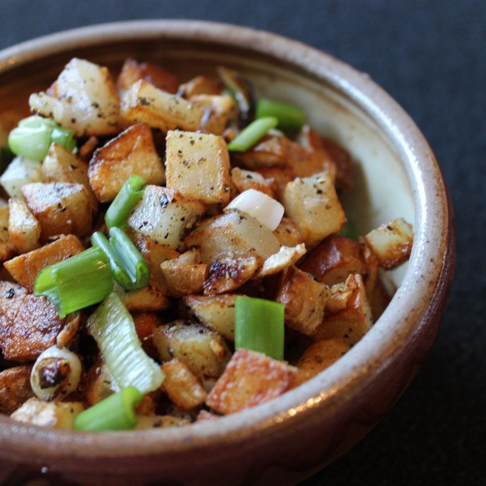 Duck Fat Green Garlic Homefries