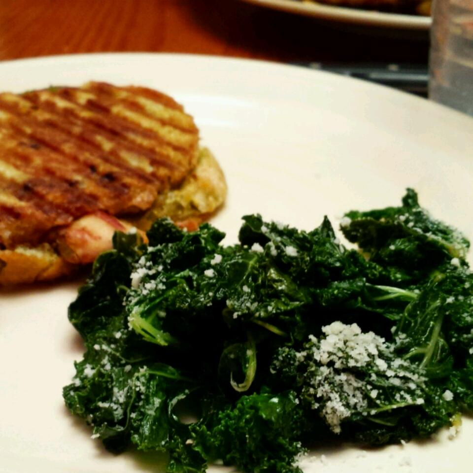 Kale with Pine Nuts and Shredded Parmesan littlejediprincess