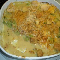 Cheesy Chicken Broccoli Bake Evangeline