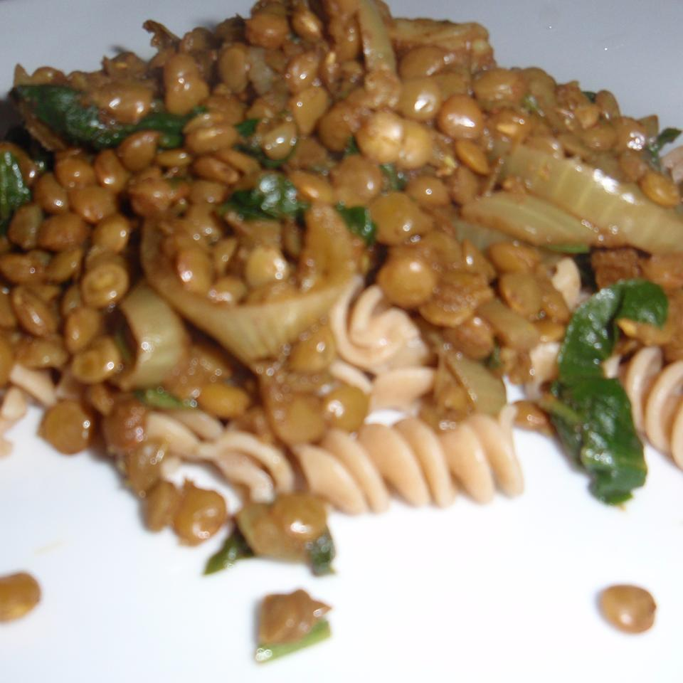 Indian Lentils and Spinach sueb