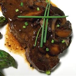 "This steak dish delivers a little international intrigue, combining Asia-inspired ingredients with simple French techniques to create 5-star results. KarenB says, ""I made this for Valentine's day. The flavor was outstanding, and it was very simple to prepare."" We've paired the beef fillets with easy Roast Potatoes.                                   Match it up with a Merlot from Washington, California, or France."