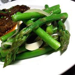 Asparagus with Garlic and Onions SunnyByrd