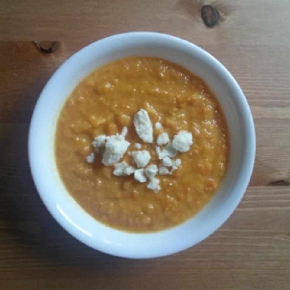Curried Sweet Potato, Carrot, and Apple Soup