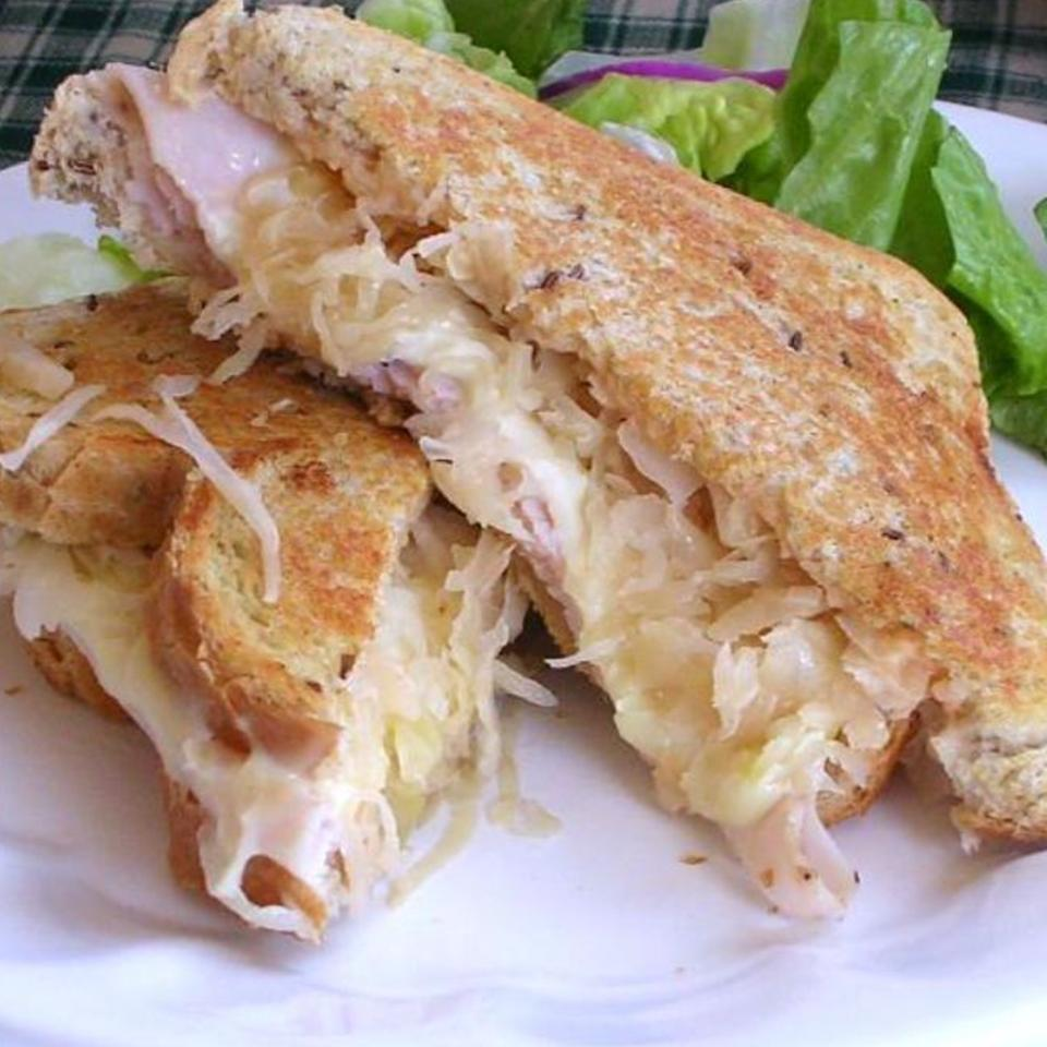 Grilled Turkey Reuben Sandwiches The-Baby-Bow-Lady