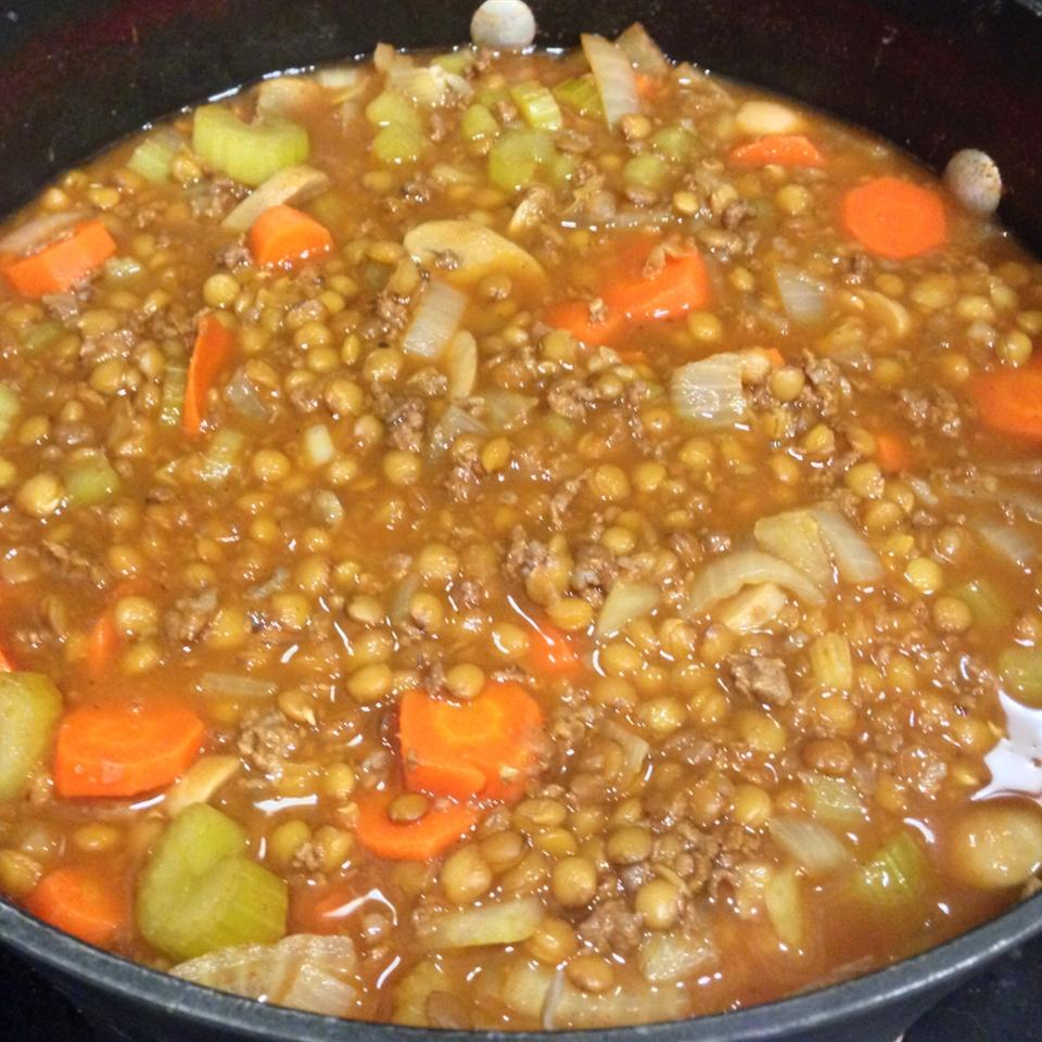 Beefy Lentil Vegetable Soup Amanda