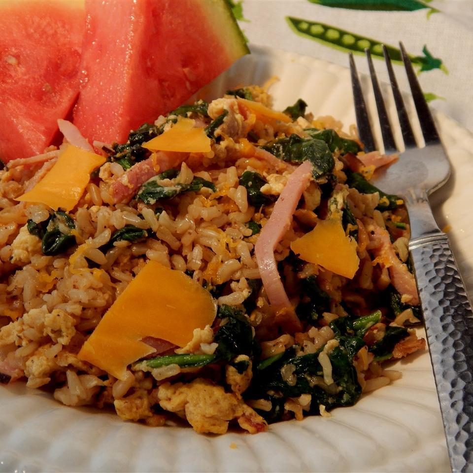 Brown Rice Skillet Breakfast Linda T