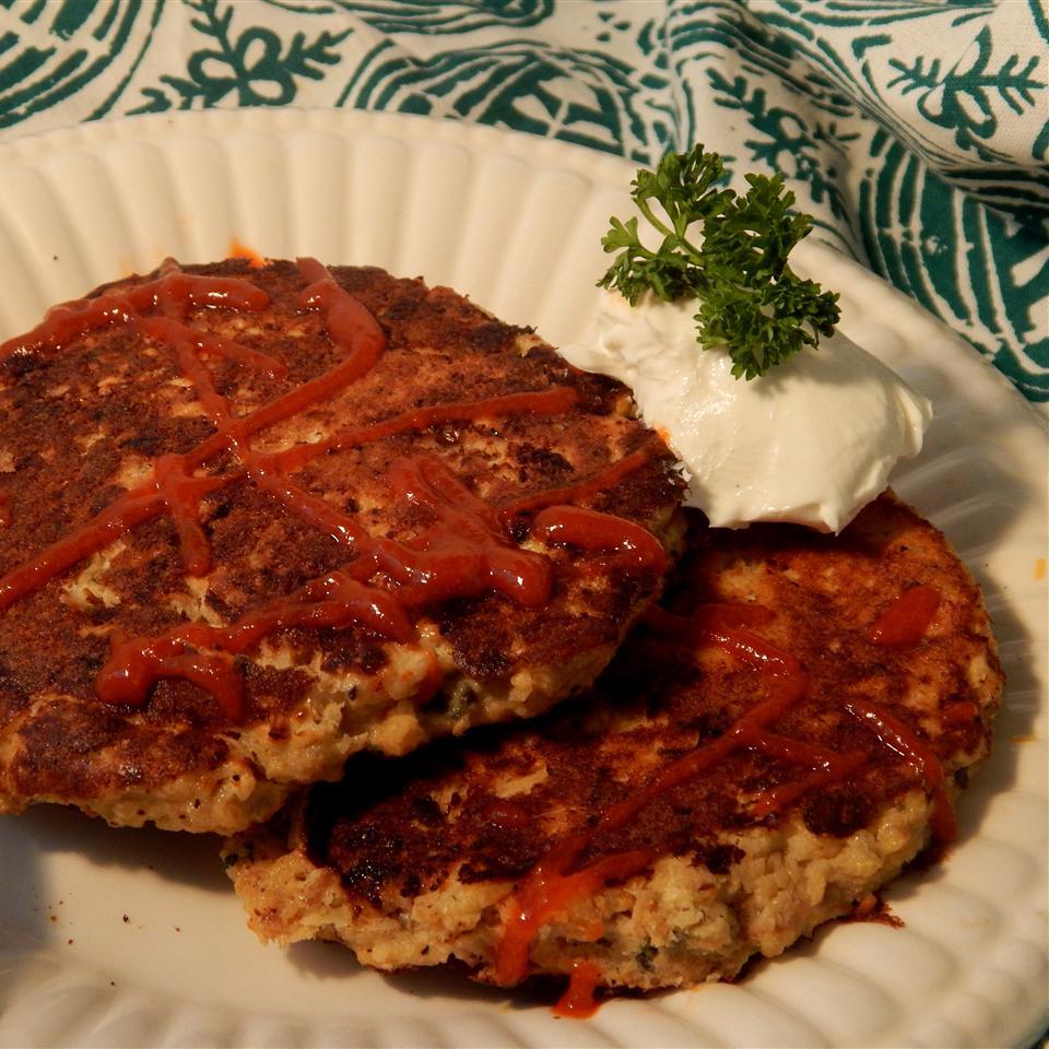 Paleo-ish Salmon Burgers Linda T