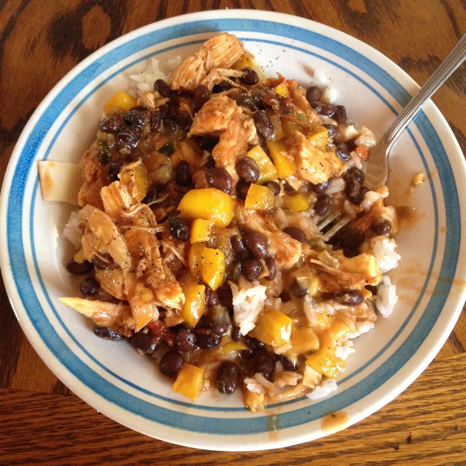 Fast Chicken Over Black Beans and Rice Ashley Barnett