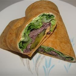Roast Beef and Avocado Wraps Naomi Winter