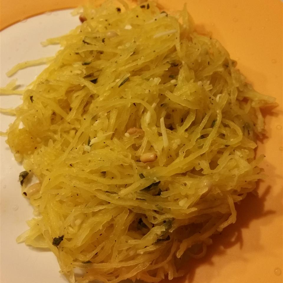 Spaghetti Squash with Pine Nuts, Sage, and Romano