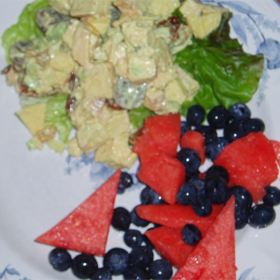 Fruited Curry Chicken Salad CORKYATBIGBEAR