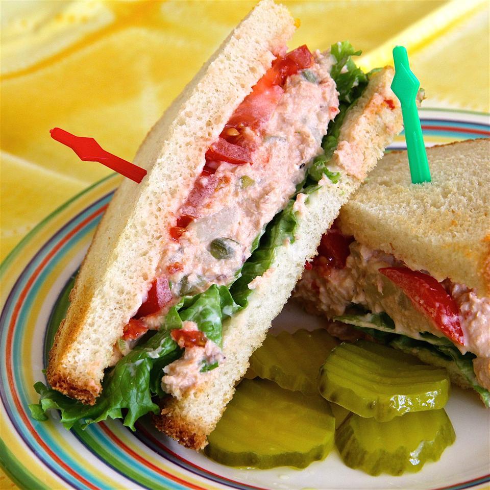Spicy Salmon Salad Sandwiches