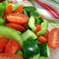 Tomato and Pepper Salad