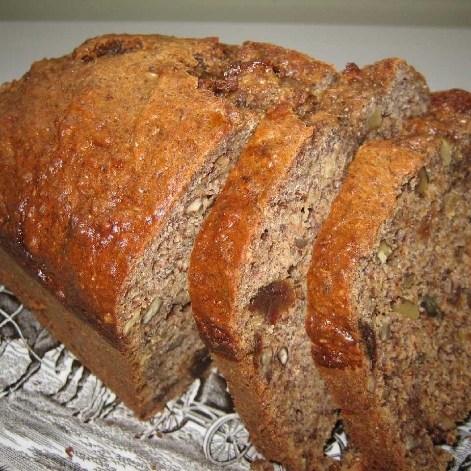Banana Date Flaxseed Bread