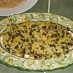 fresh tasting black beans with rice recipe