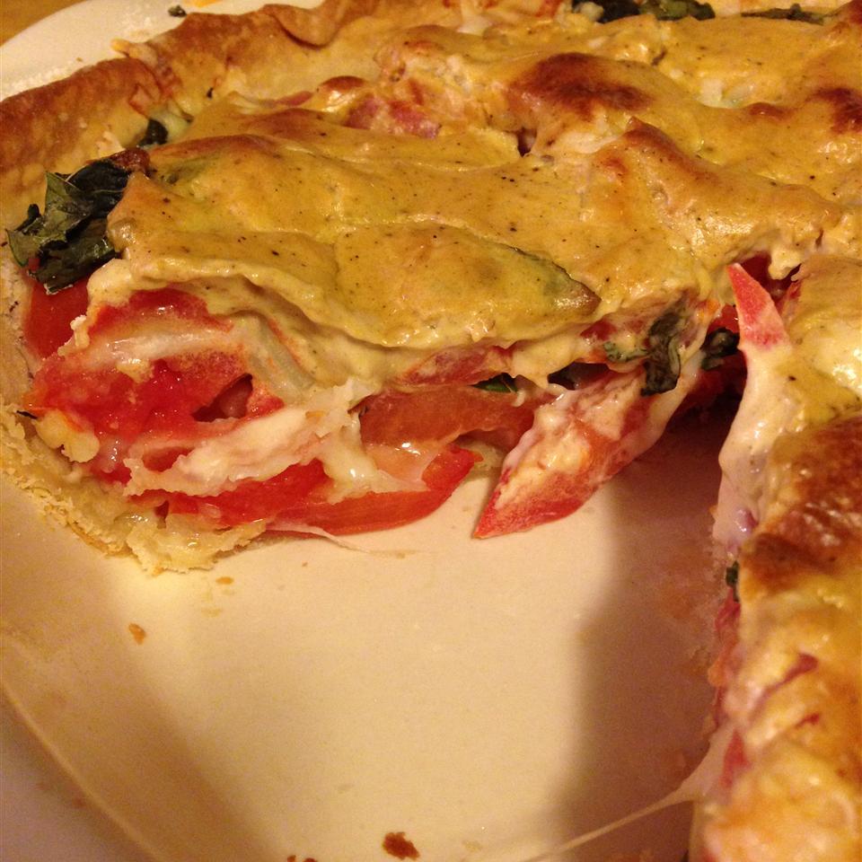 Parmesan Tomato Pie image