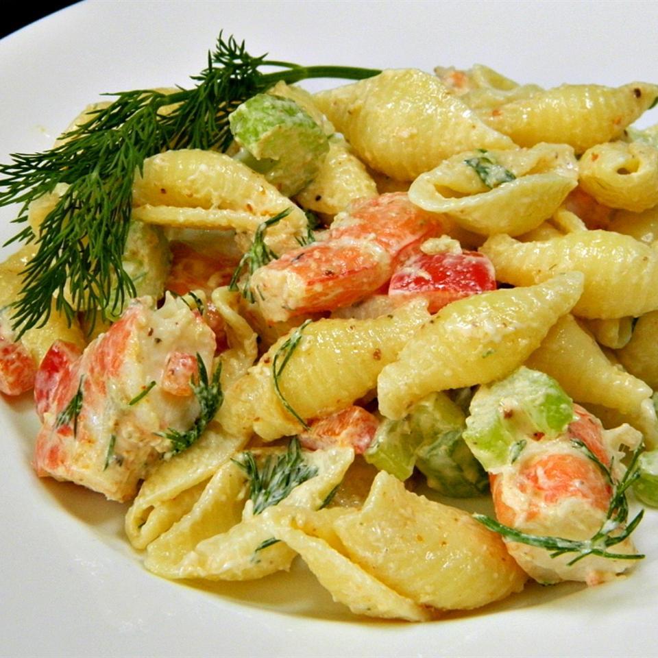 Shrimp and Pasta Shell Salad