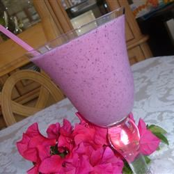 Red, White, and Blue Fruit Smoothie