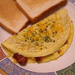 crispy bacon and sweet onion omelet recipe