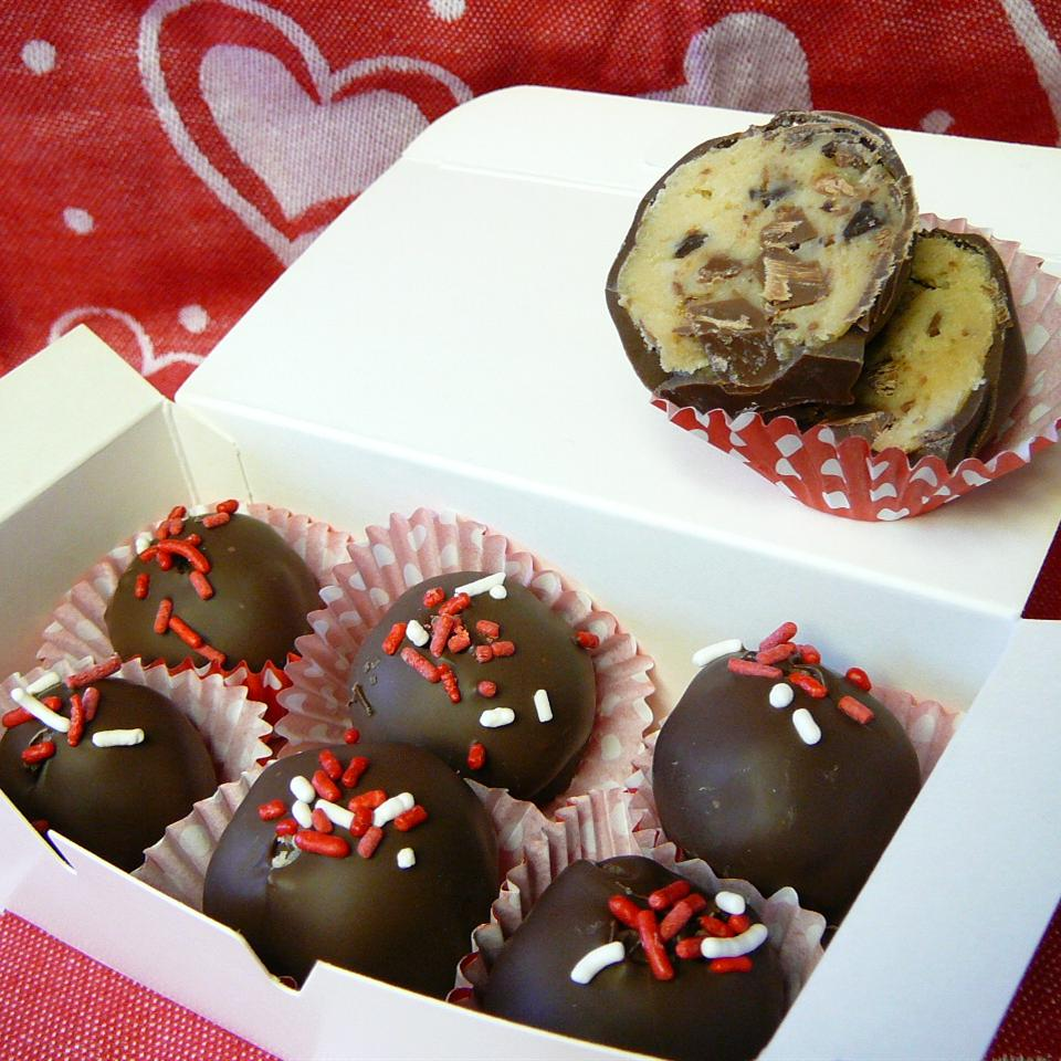 Chocolate Chip Cookie Dough Truffles Molly
