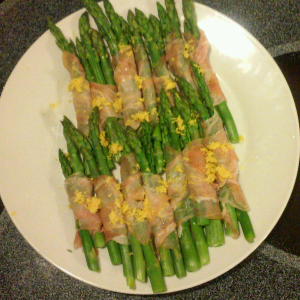 Cold Asparagus with Prosciutto and Lemon Todd Rathier