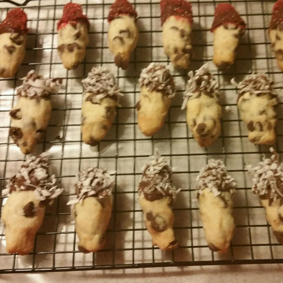 Mini Chocolate Chip Shortbread Cookies sls