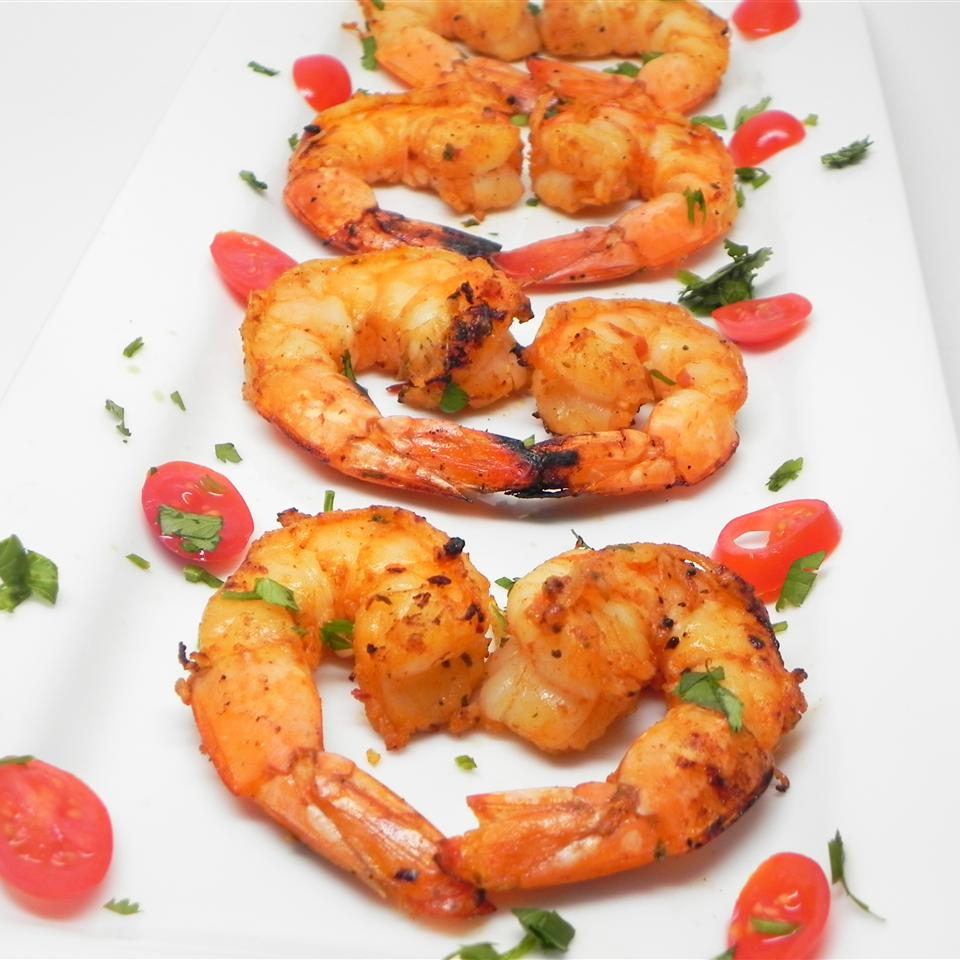 Healthier Marinated Grilled Shrimp