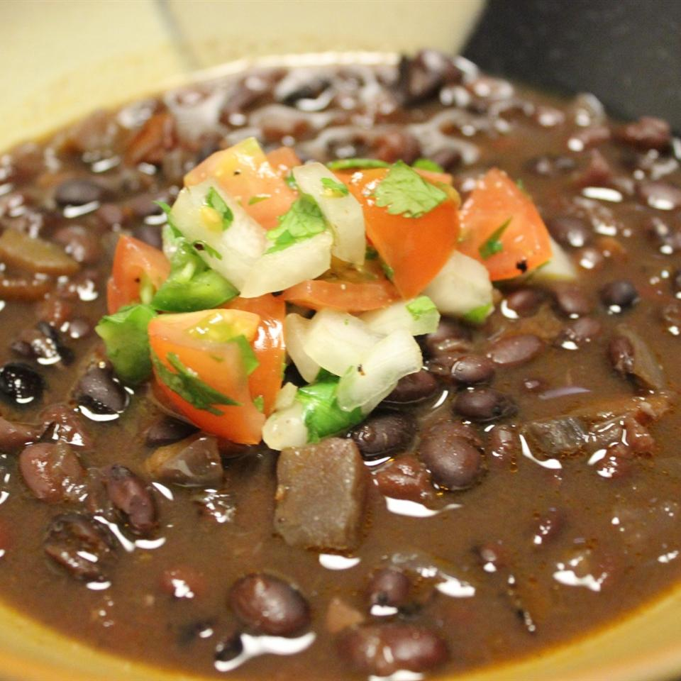 Black Bean Salsa Soup mommyluvs2cook