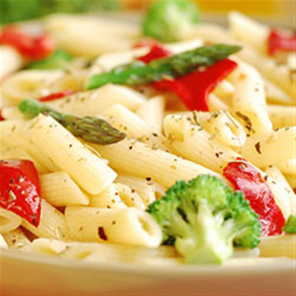 Clamato® Pasta Primavera with Creamy Sauce