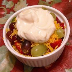 Layered Cheddar-Fruit Salad