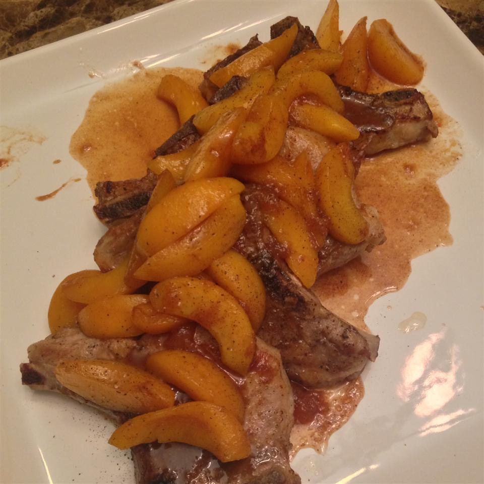 Pork Chops with a Riesling Peach Sauce kmle08