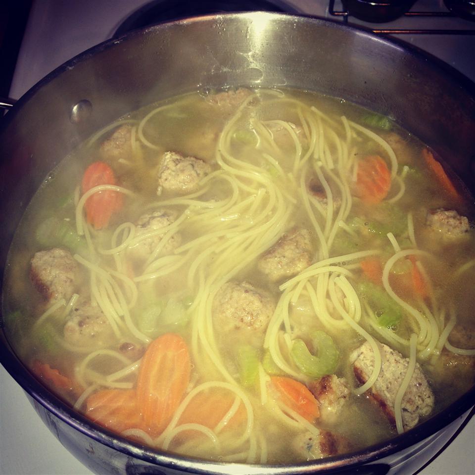 Chicken Meatball Soup missybee