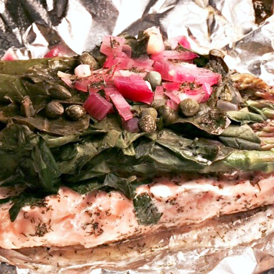 Salmon and Asparagus in a Bag